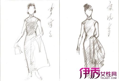 手绘旗袍美女是利用photoshop绘画制作软件制作出来