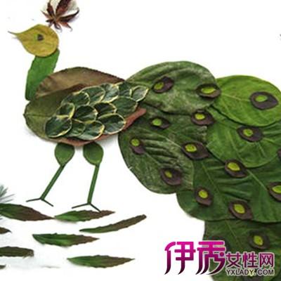 如何用树叶作画_绿树叶粘贴画图片大全图片展示
