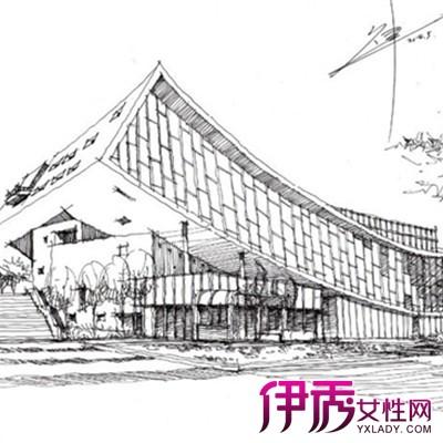 【图】建筑手绘线稿图片大全 教你手绘的表现手法