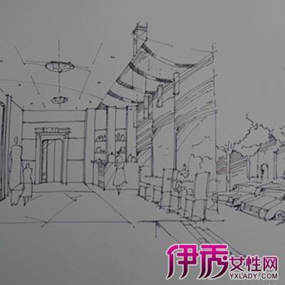 【图】单层茶室室外手绘透视图片 让你彻底了解手绘