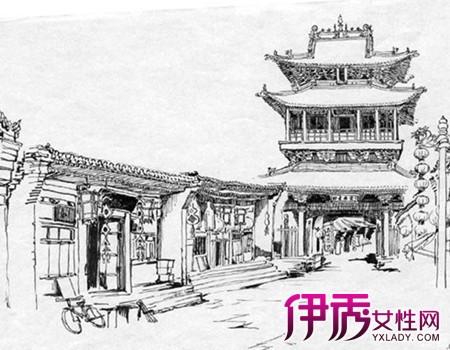 【图】手绘古代建筑图片展示 梁思成先生的心血之作