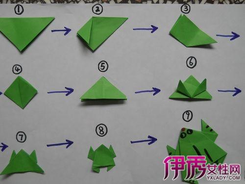 会跳的青蛙折纸图解 10个小步骤教会你
