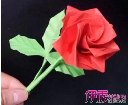 玫瑰花的折纸花步骤图解图片