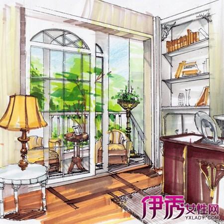 【图】室内书房手绘效果图 为你分析手绘的行业状况