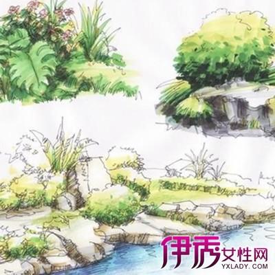 【图】景观小品手绘效果图大全