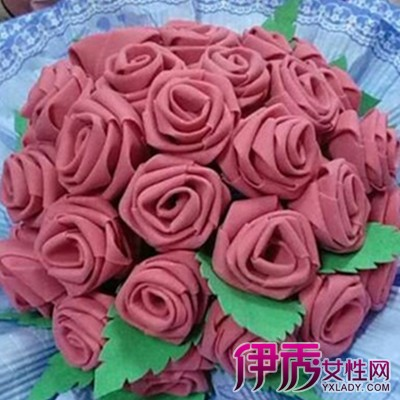 海绵纸手工玫瑰花盒子包装图展示
