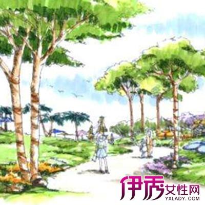 【图】关于园林景观手绘效果图欣赏 教你如何绘制园林透视图