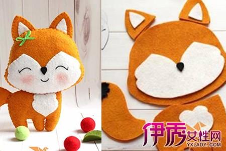 【图】不织布创意手工作品欣赏 可爱小狐狸玩偶步骤图解