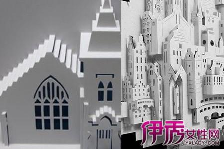 【图】解读立体纸雕建筑制作过程 新手试做也能美轮美奂