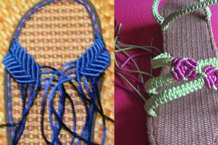 【图】手工编织凉拖鞋分解教程 炎热夏季diy美鞋超有范儿