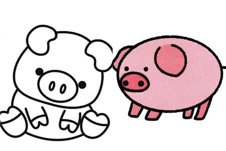 【图】简笔画动物怎么画 可爱小猪的表现手法