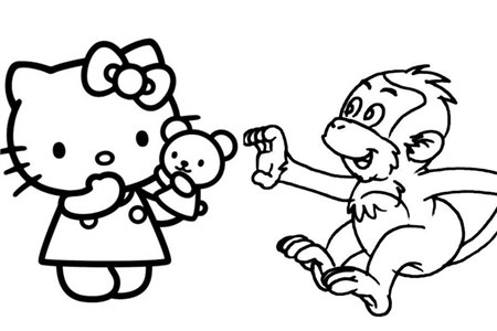 用马克笔在速写本上用简单的线条就可以画出生动可爱的动漫动物形象.