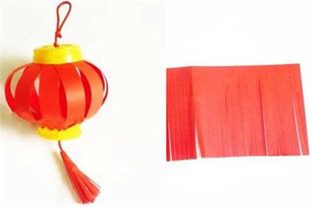【图】创意手工作品制作图解 如何做红灯笼