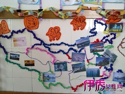 幼儿园小班国庆主题墙 铭记历史从小孩开始图片
