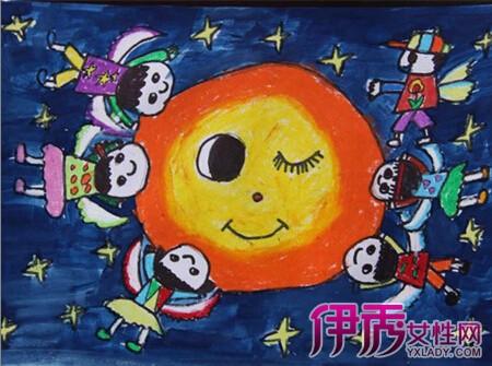 中秋节儿童画画大全-中秋节快乐,图片尺寸:600×411,来自网页:http