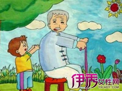 给老人捶背的简笔画-重阳节童谣有哪些 推荐10首重阳节童谣