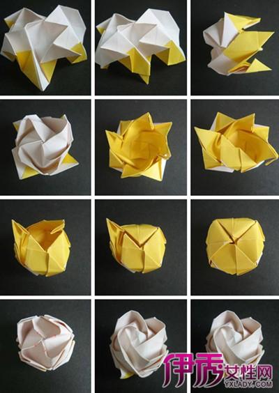 纸玫瑰花的折法图解教程 分分钟学会的好方法