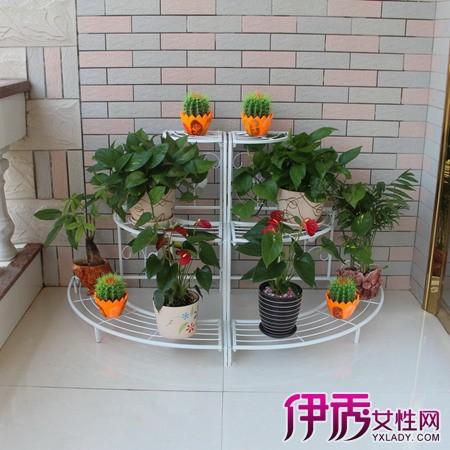 这种花盆架设计的材选用的是木头