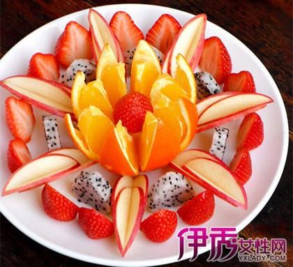 火龙果水果拼盘图片欣赏 教你制作水果拼盘的四个小技巧