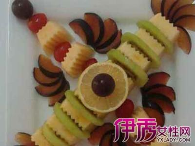 好看 水果拼盘/水果拼盘的做法三:材料:哈密瓜,猕猴桃,黑布林,红提,小番茄...