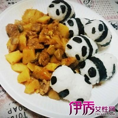 【图】熊猫咖喱饭可爱造型图片展示 教你如何制作孩子都爱的饭