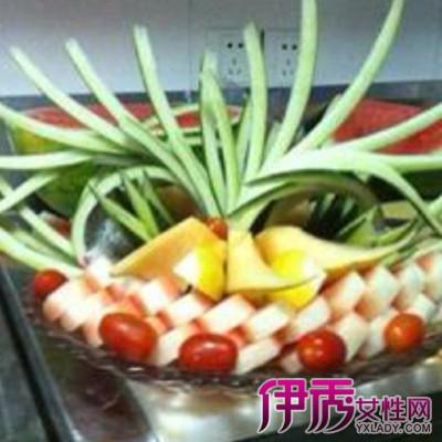 【最简单果盘西瓜皮拉花】【图】最简单果盘西瓜皮