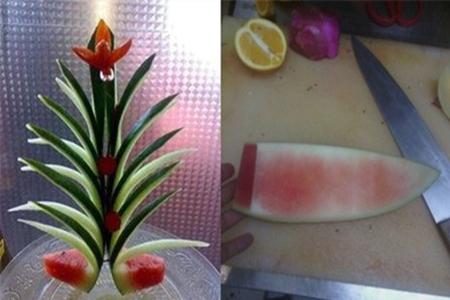 【图】西瓜皮拉花的步骤图 教你如何做出水果花样