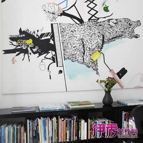 手绘墙画鉴证爱情(3)