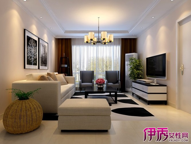 客厅地板砖效果图