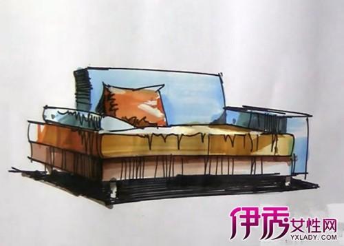 【图】沙发马克笔绘图欣赏