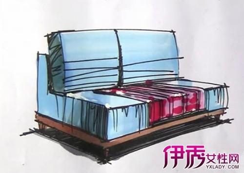 【图】沙发马克笔绘图欣赏 介绍3种沙发的特点