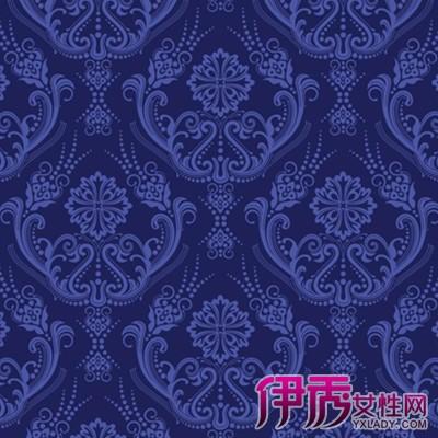 【图】欧式蓝色大花纹墙纸图片鉴赏 美观实用的室内装修