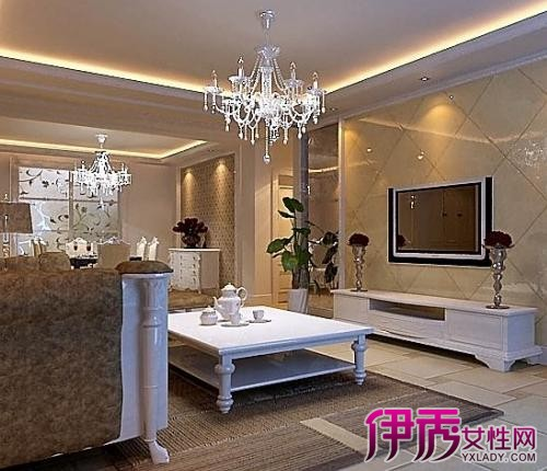 【图】客餐厅吊顶效果图赏 纵观简欧客厅的设计图片图片