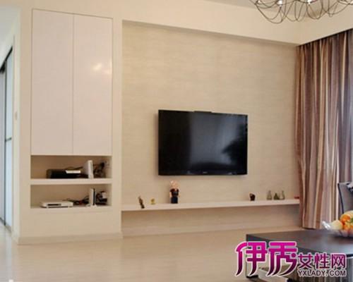 现代柜式电视背景墙效果图 4款经典简约电视背景墙的介绍图片