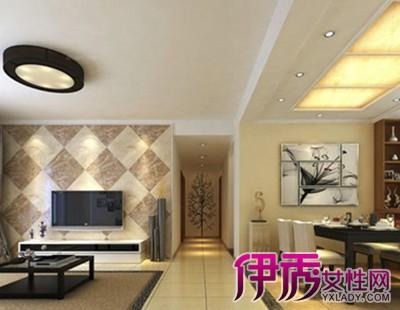 【图】客厅菱形瓷砖背景墙效果图