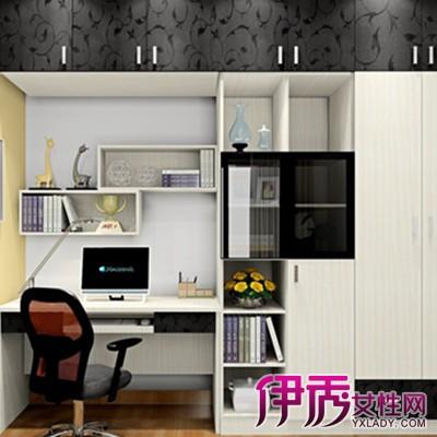 衣柜带书柜一体的组合设计