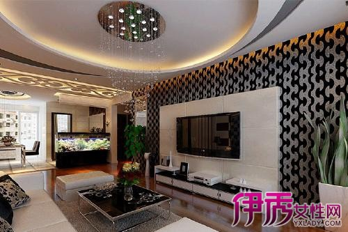 【图】欧式瓷砖电视墙效果图