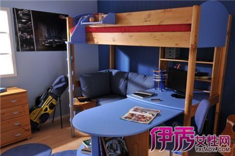 【图】小空间书房高低床装修效果图片 省空间设计华丽多彩的书房