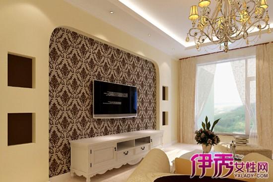 运用硅藻泥欧式印花装饰电视背景墙