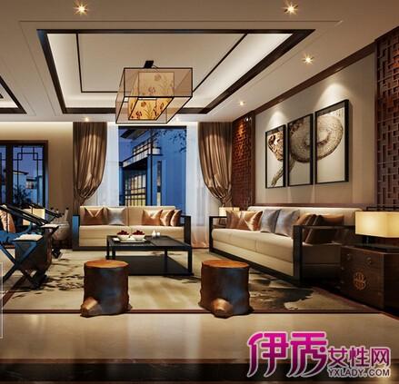 【图】中式客厅简装装修效果图欣赏 5照为你打造中式古韵客厅