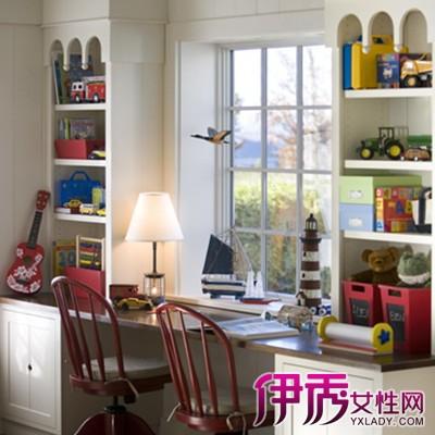 【窗户儿童书桌书柜效果图】【图】盘点窗户儿童书桌