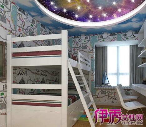 【欧式儿童房上下床装修效果图】【图】欧式儿童房床