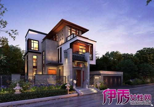【图】欣赏现代新中式别墅外观 体现中国文化的继承与发展图片