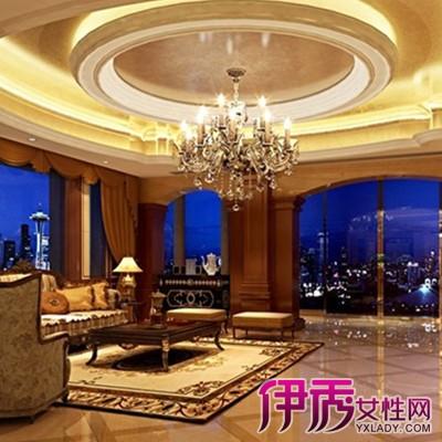【图】不同风格的客厅圆形吊顶效果图