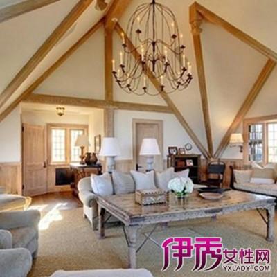 客厅有横梁怎么装修4,不规则的吊顶设计,圆弧包覆加辅以间接光源,使小
