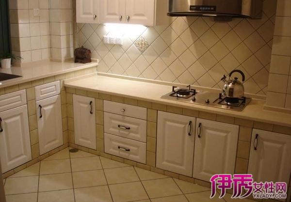 【图】厨房橱柜瓷砖灶台图片