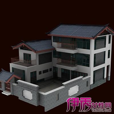 【中式别墅外观效果图】【图】观赏中式别墅外观效果