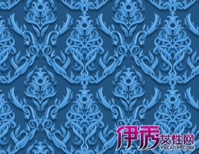 【装修墙纸】【图】欧式蓝色大花纹装修墙纸鉴赏