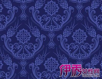 【图】欧式蓝色大花纹装修墙纸鉴赏 美观实用的室内装修