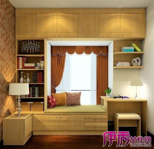 【圖】飄窗設計成書櫥書桌的效果圖